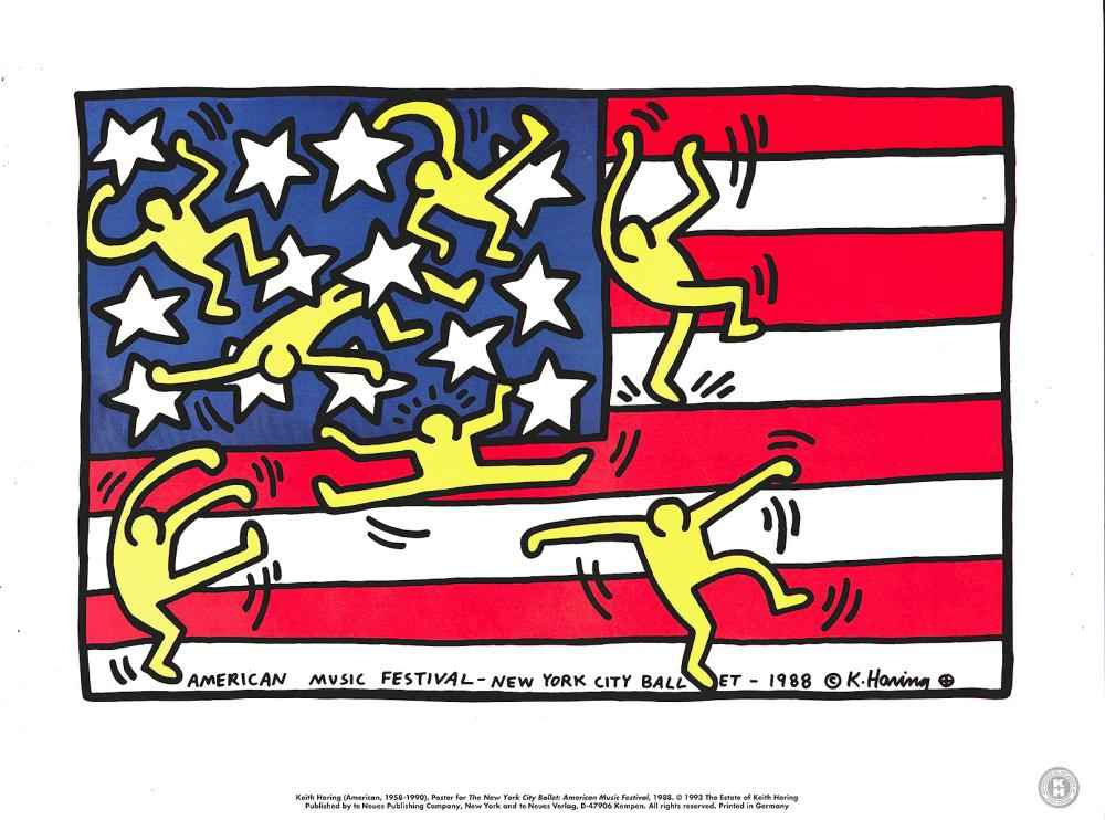 American Flag (Untitl... by  Keith Haring - Masterpiece Online