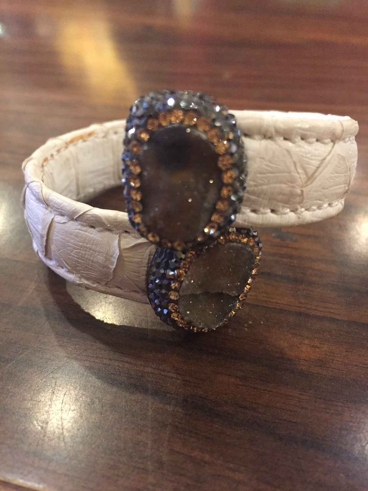 Leather Bangle Bracel... by  Debbie Clemens - Masterpiece Online