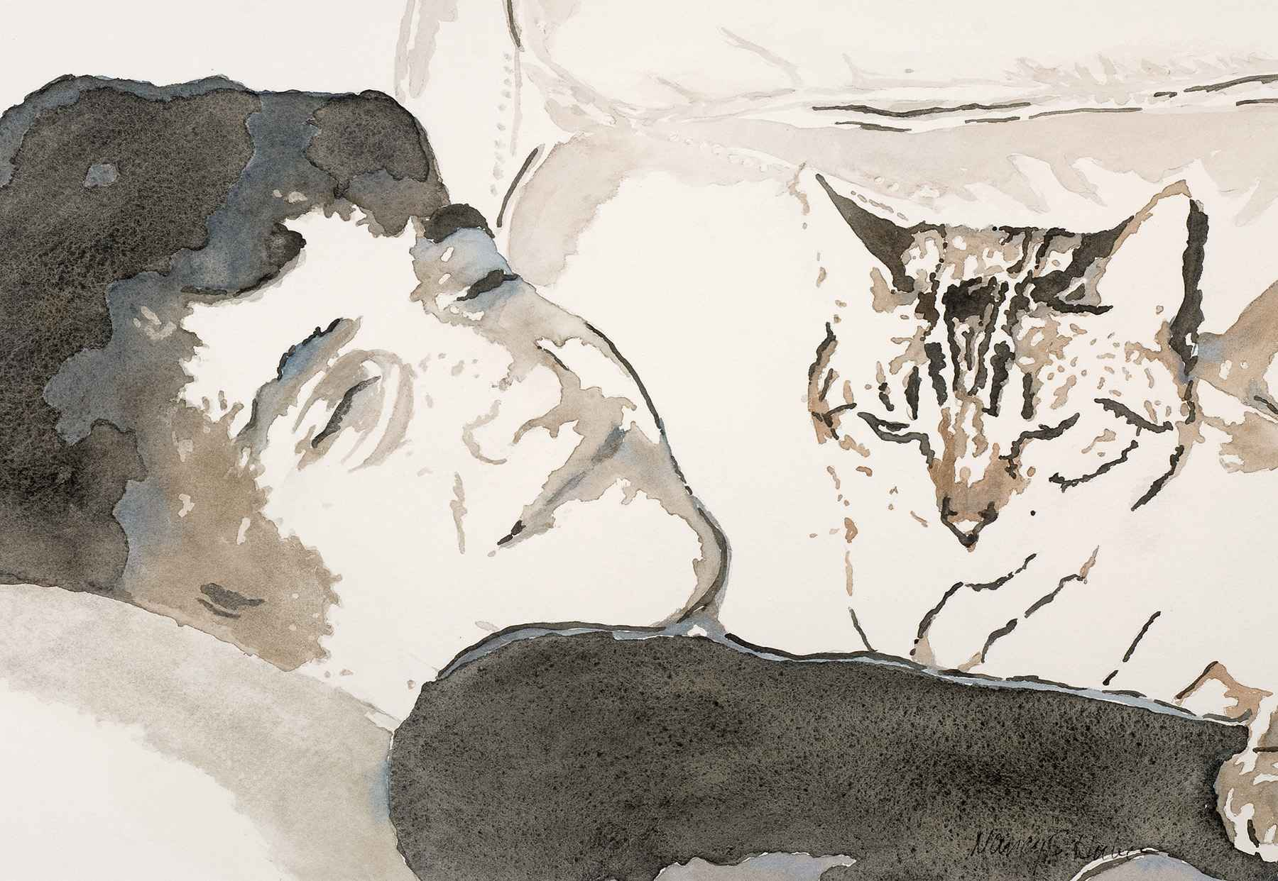 Purrfectly Content by  Nancy Huber - Masterpiece Online