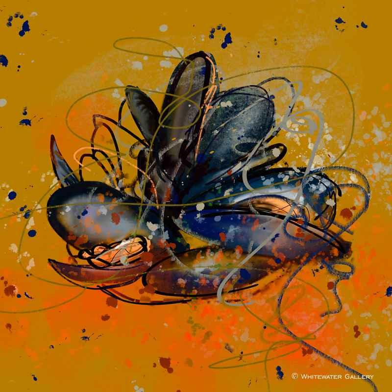 Saffron Mussels Coast... by   Placemats & Coasters - Masterpiece Online
