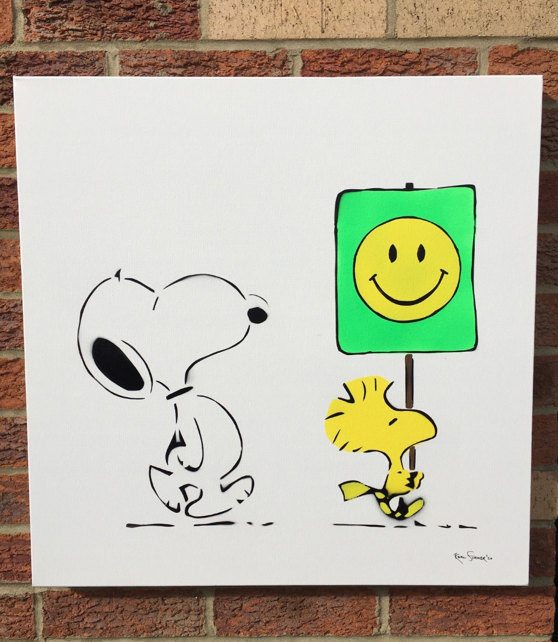 Snoopy Smiley Face-Wh... by  Karl Striker - Masterpiece Online