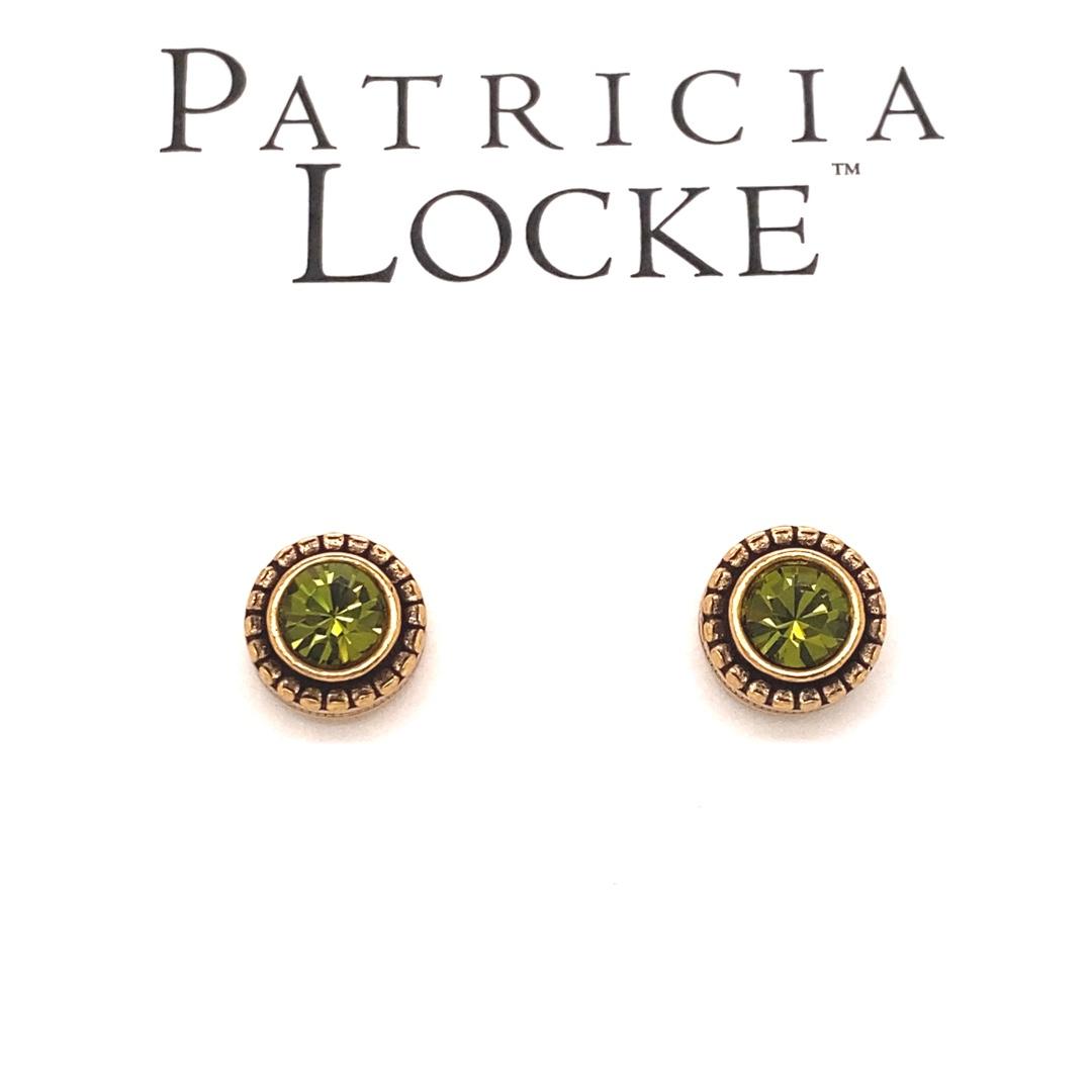Indie Earrings in Gold, Olive