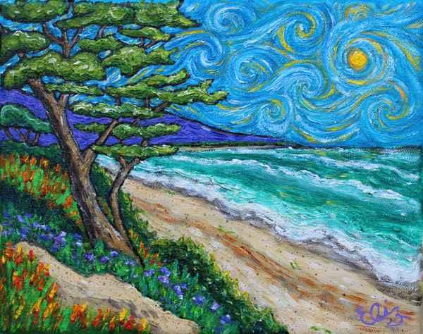 Surf, Cypress & Sky by  Elizabeth Jackson - Masterpiece Online