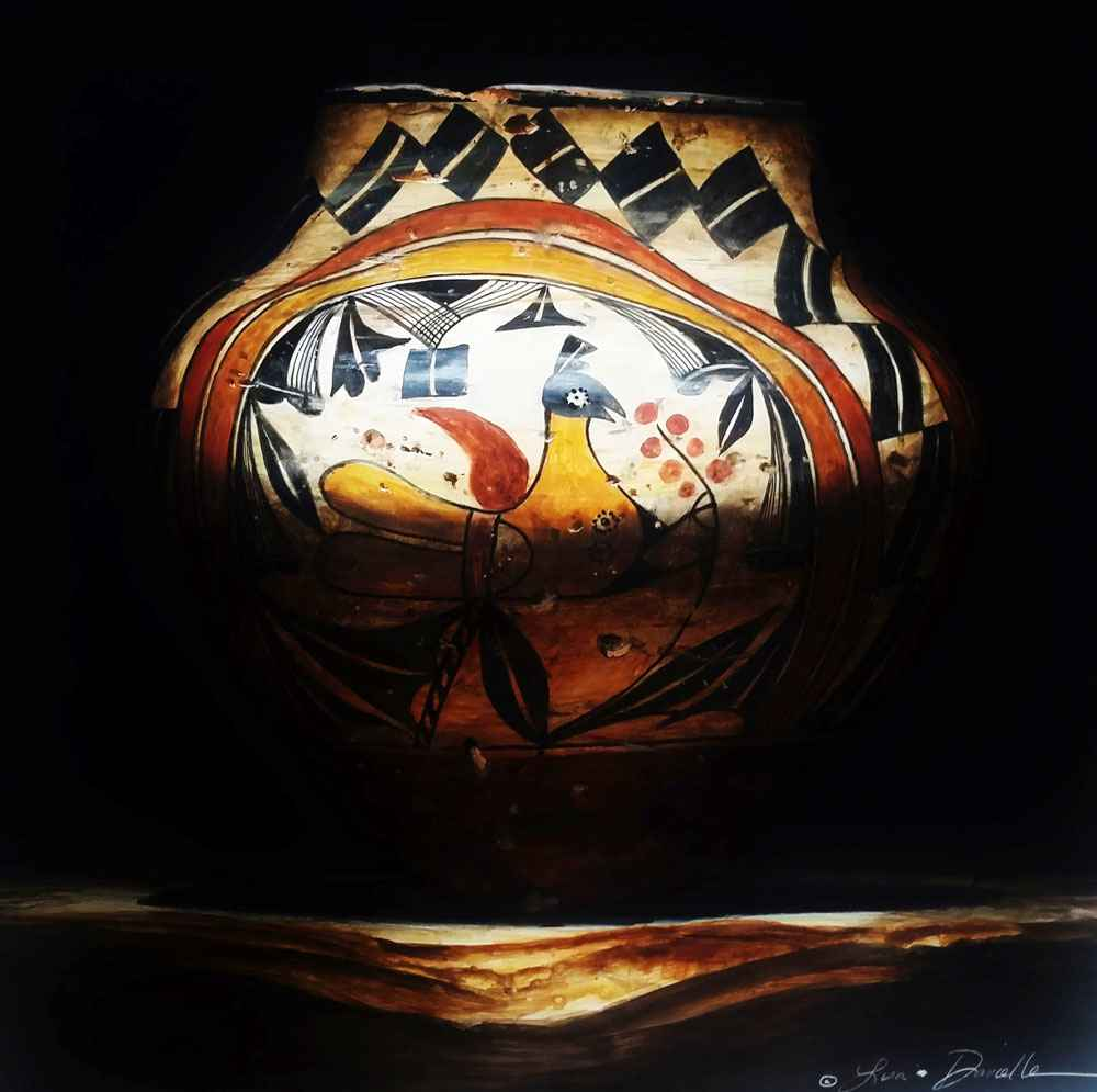 Four Colors of Acoma  by  Lisa Danielle