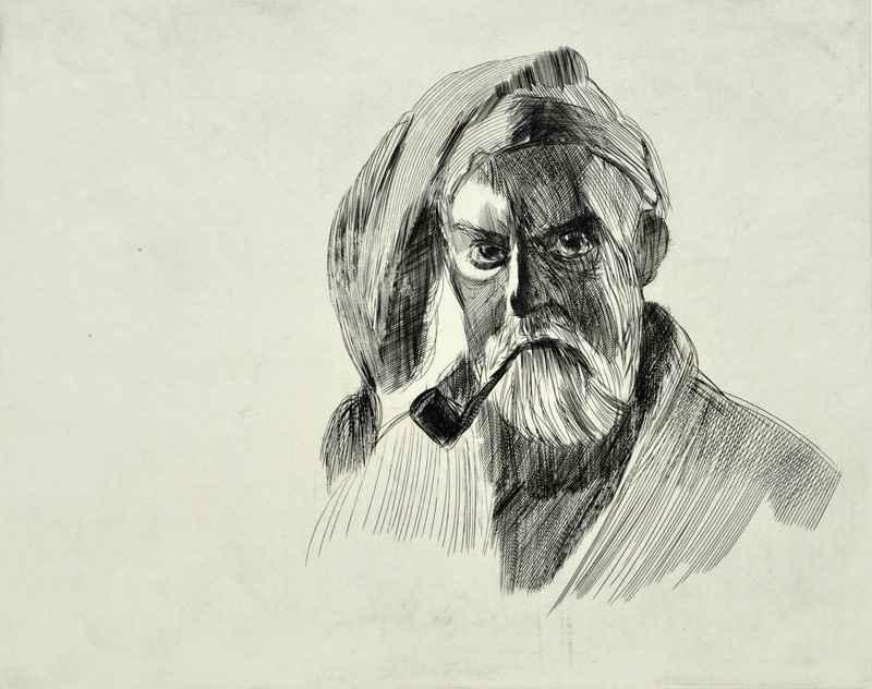 Self Portrait by  Bernard Brussel-Smith (1914-1989) - Masterpiece Online