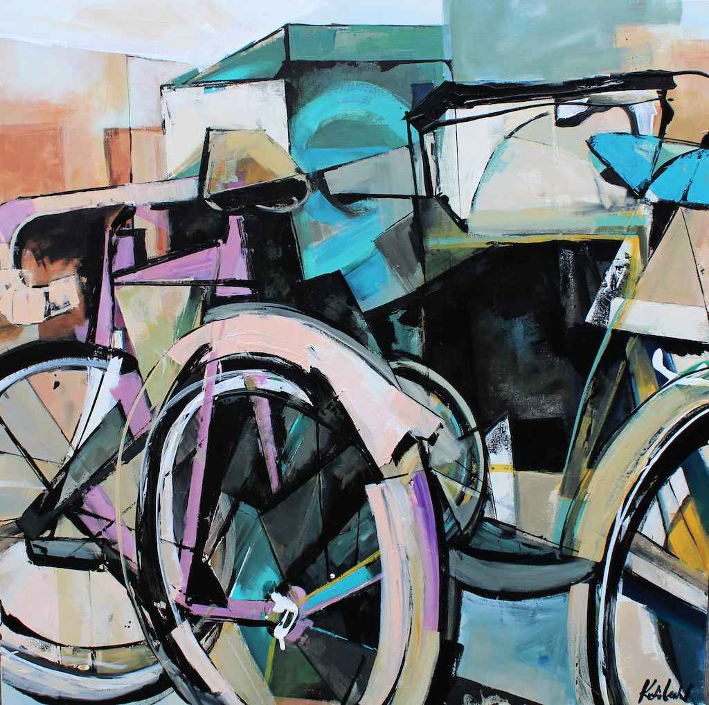 Plum & Blue Bike by  Katie Leahul - Masterpiece Online