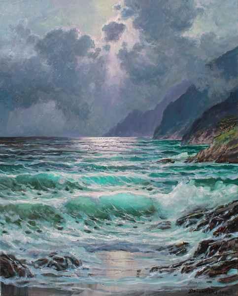 Pacific Moonlight by  A Dzigurski II - Masterpiece Online