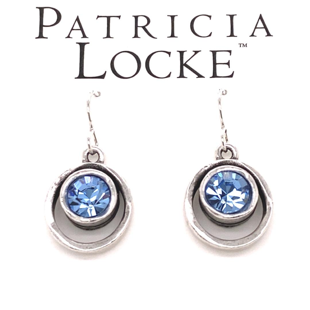 Skeeball Earrings in Silver, Light Sapphire