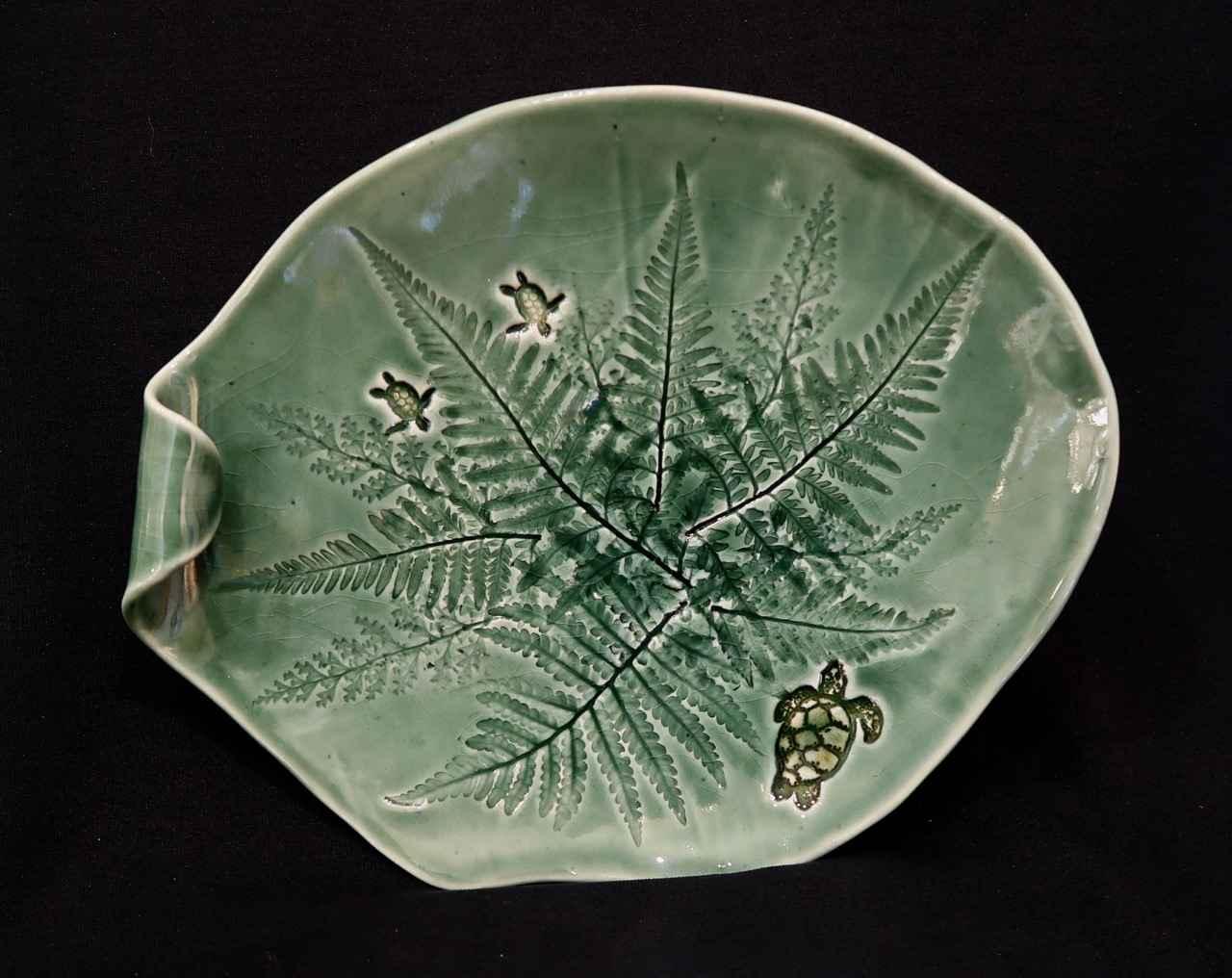 Green Fern Plate, 1 l... by Ms. Birgitta Frazier - Masterpiece Online