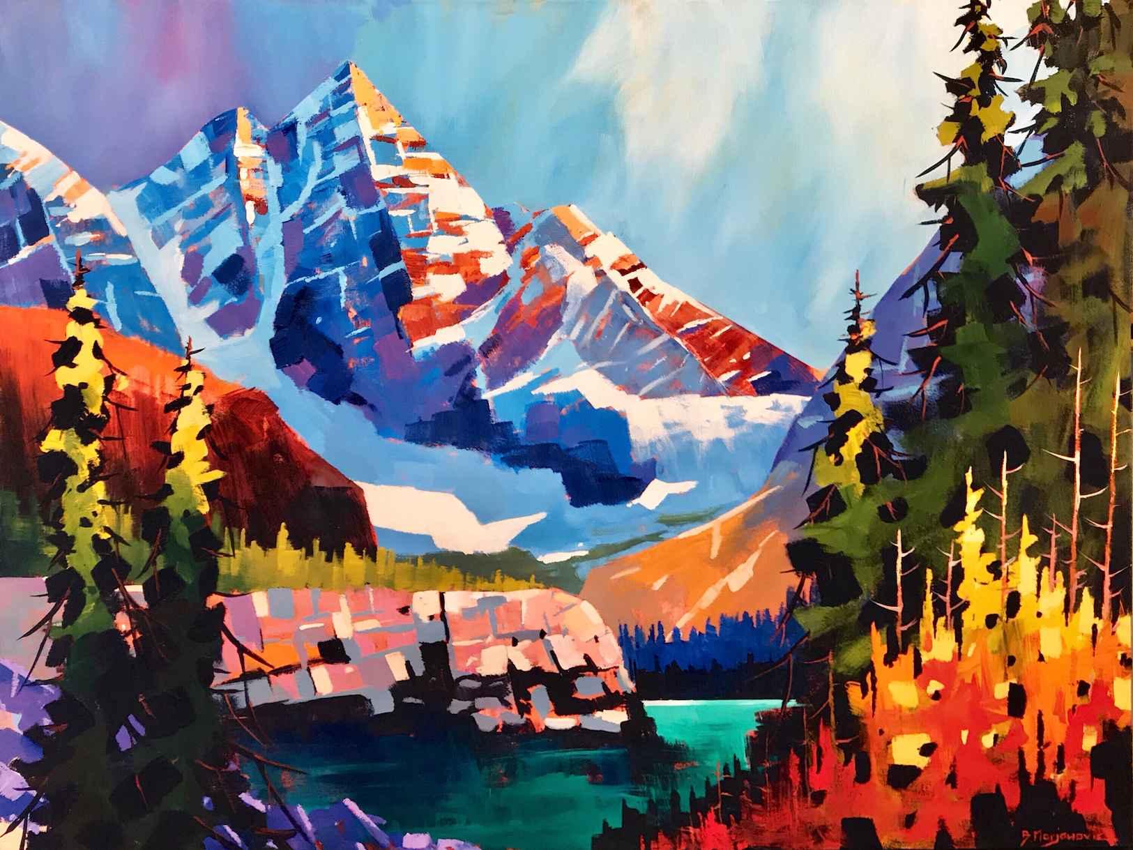 Mount Hungabee by  Branko Marjanovic - Masterpiece Online