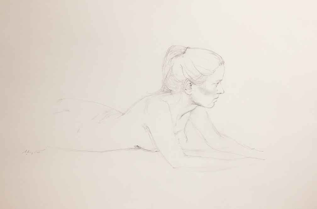 Study of Helga: Nude,... by  Andrew Wyeth - Masterpiece Online