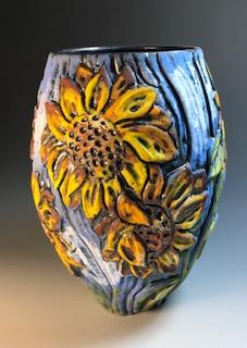 Sunflower Vase III