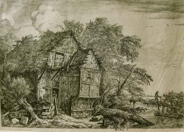 Small Bridge by  Jacob van Ruisdael (1629-1682) - Masterpiece Online