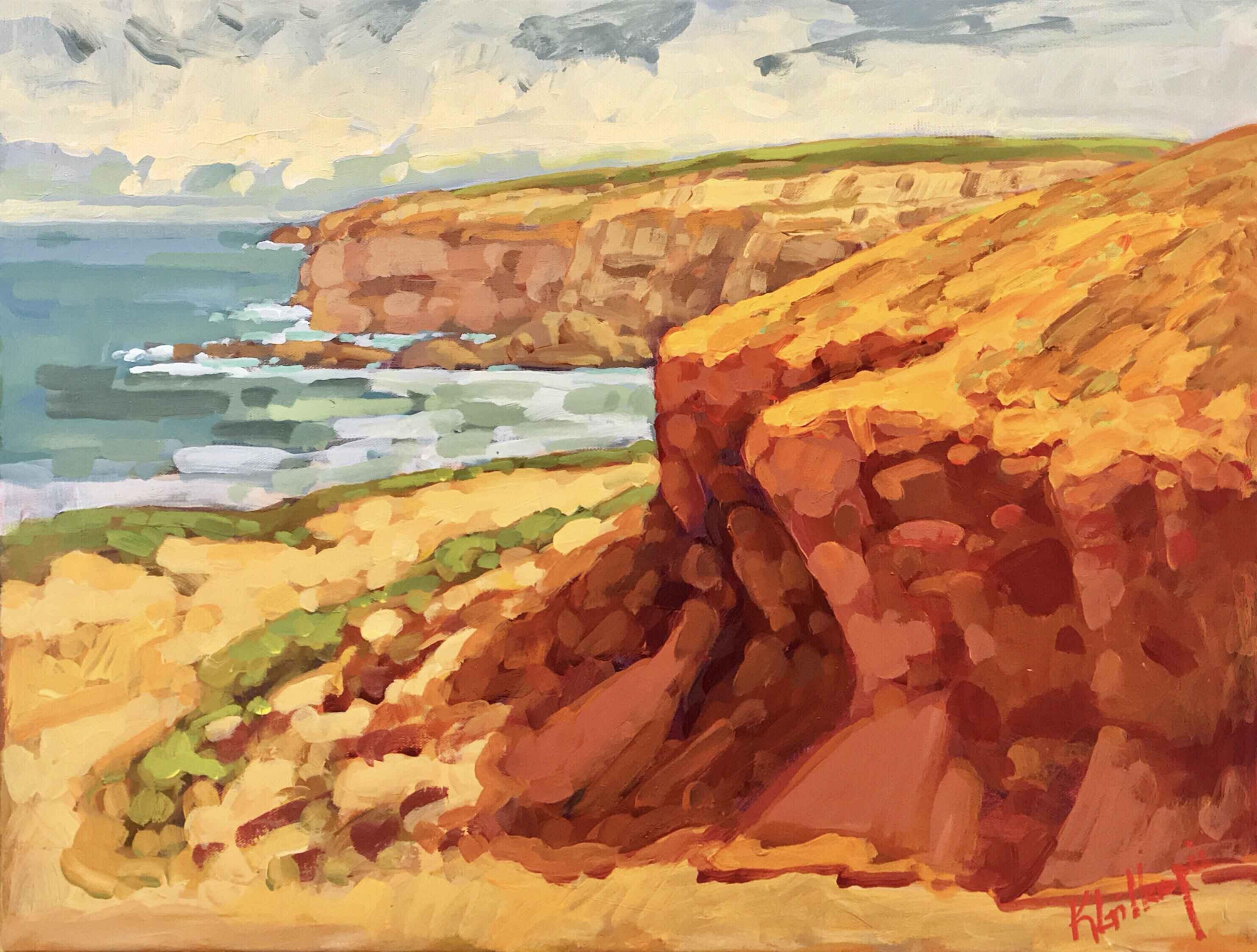 Alentejo Cliffs Portu... by  Ken Gillespie - Masterpiece Online