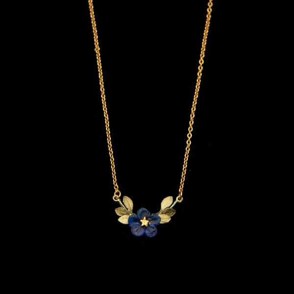 Blue Violet Bar Pendant Necklace