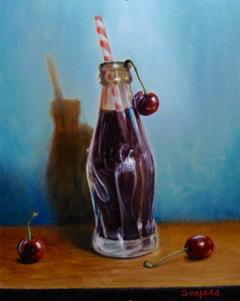 Coca-Cola with Three Cherries