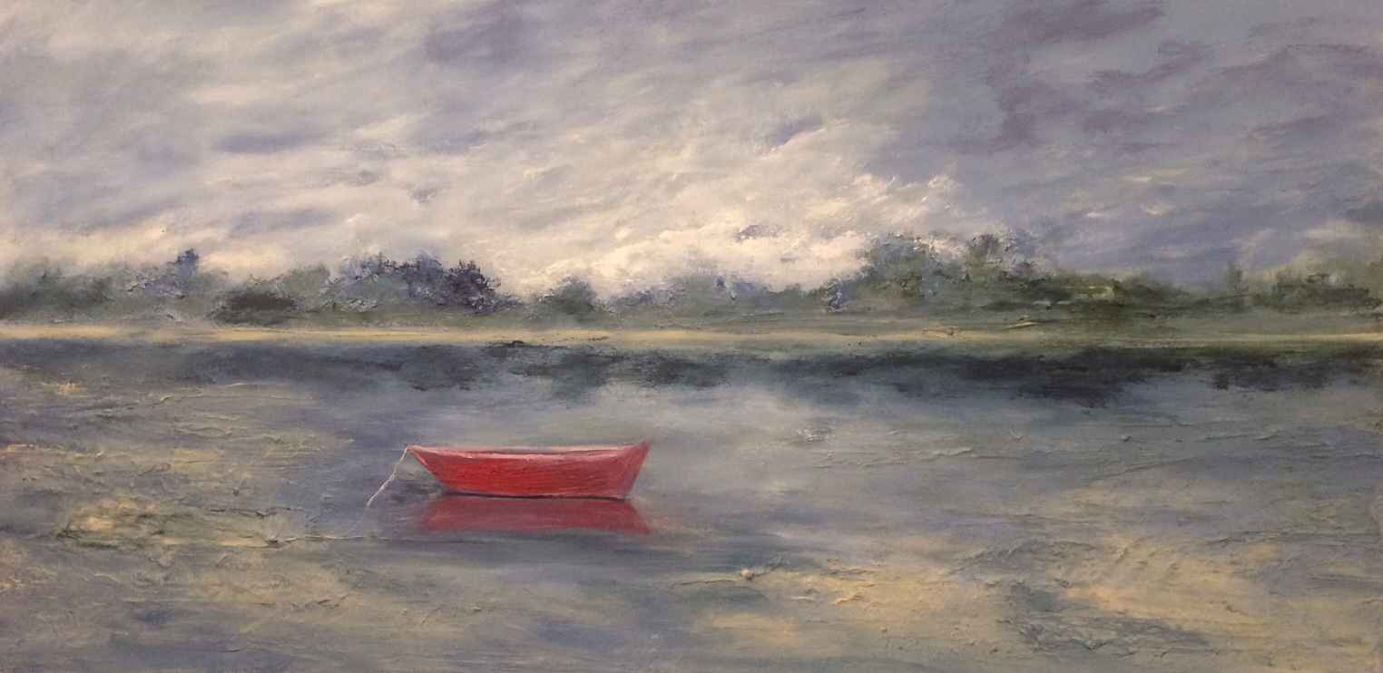 Red Dory at Rest by  Steve Lyons - Masterpiece Online