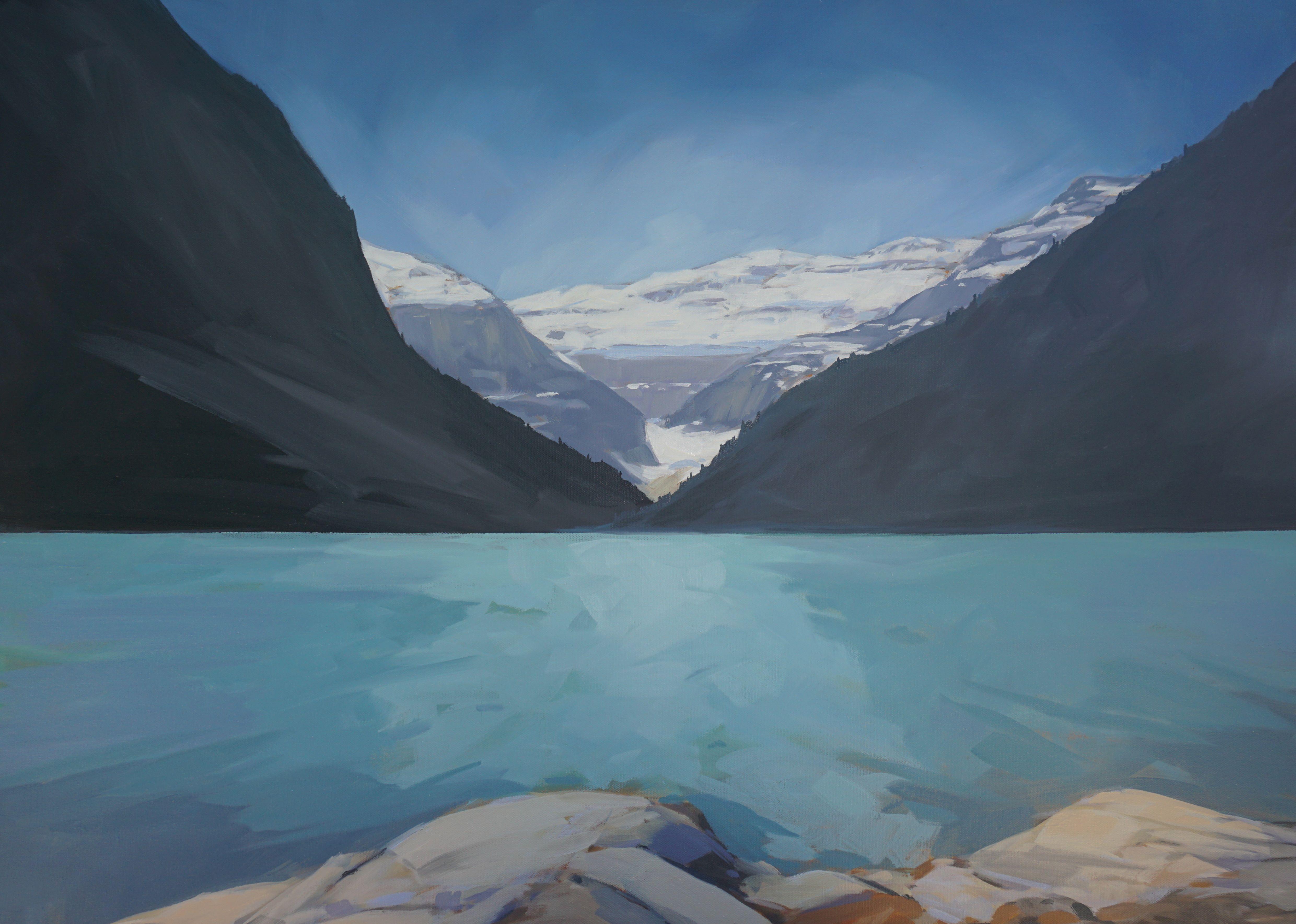Lake Louise Shoreline by  Scott MacKenzie - Masterpiece Online