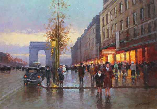 Champs Elysees - Lido by  Alexander Popoff  - Masterpiece Online