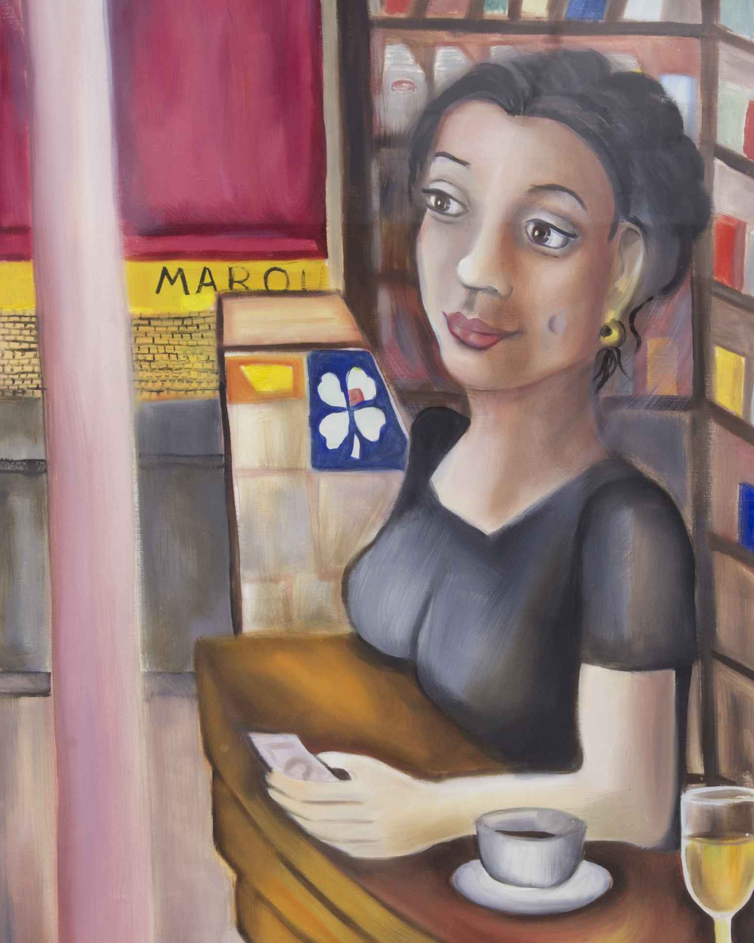 Cafe at Boulevard Bar... by Ms. Rebecca Vincenzi - Masterpiece Online