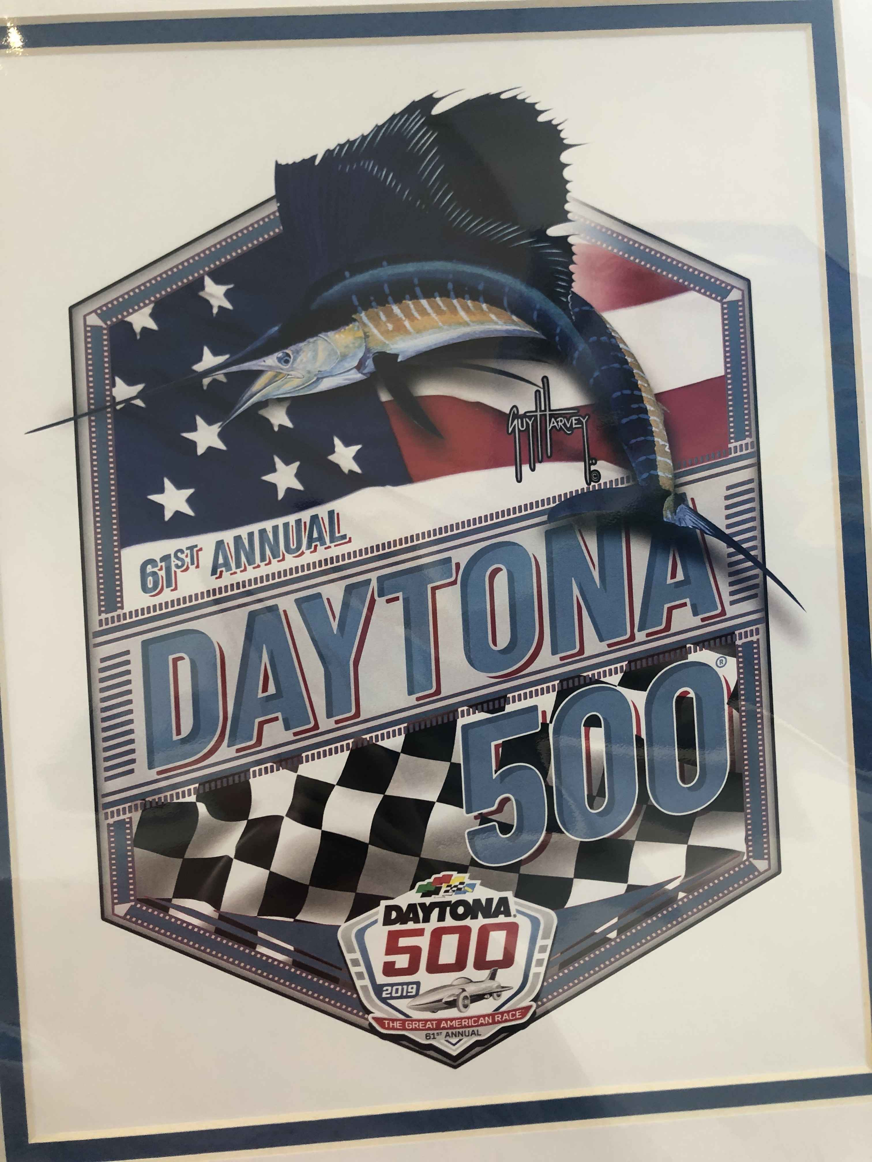 2019 Daytona 500 Print by  Guy Harvey - Masterpiece Online