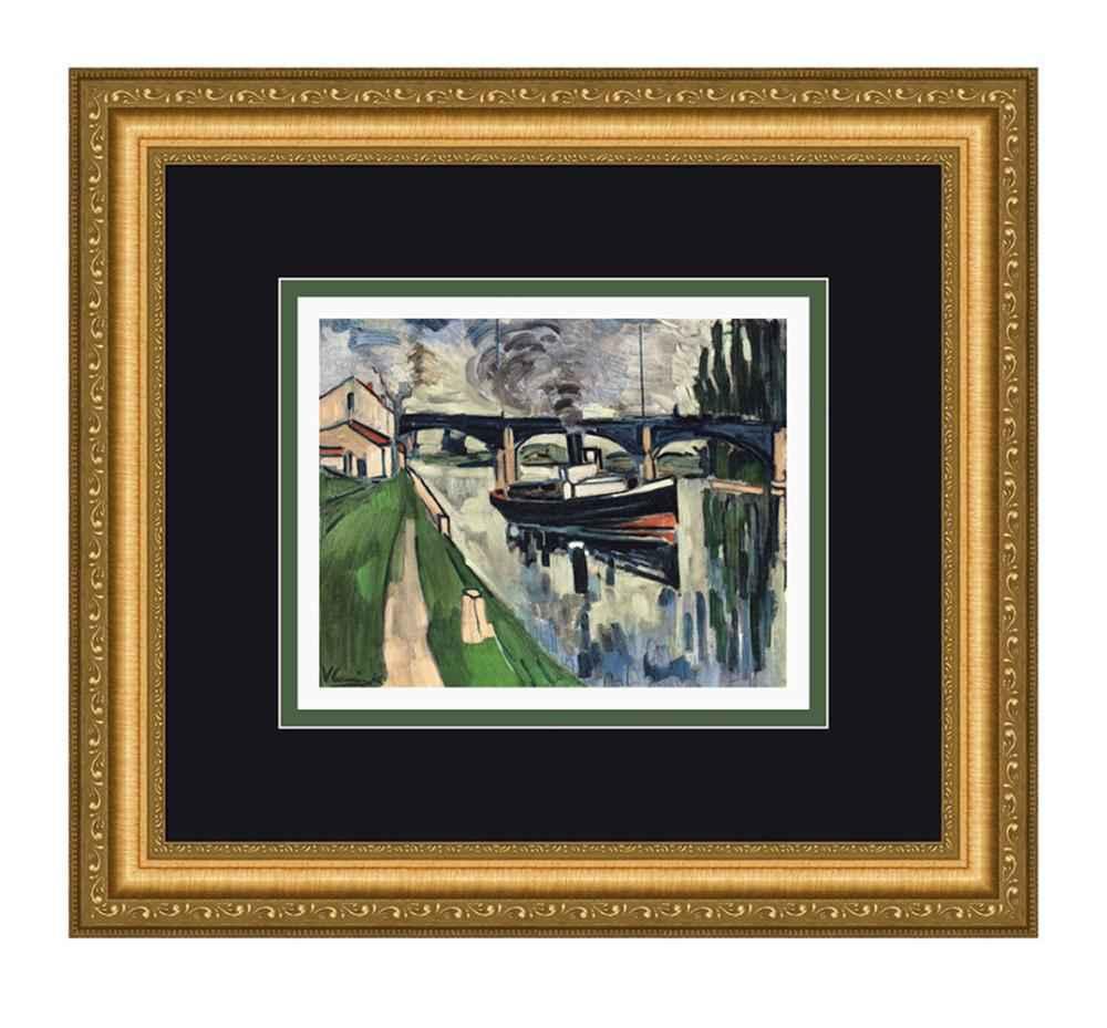La Seine a Poissy by  Maurice de Vlaminck - Masterpiece Online
