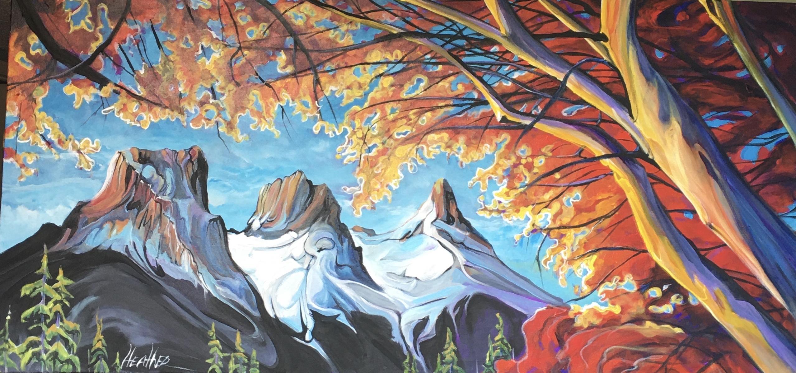 Three Sisters Sunburst by  Heather Pant - Masterpiece Online