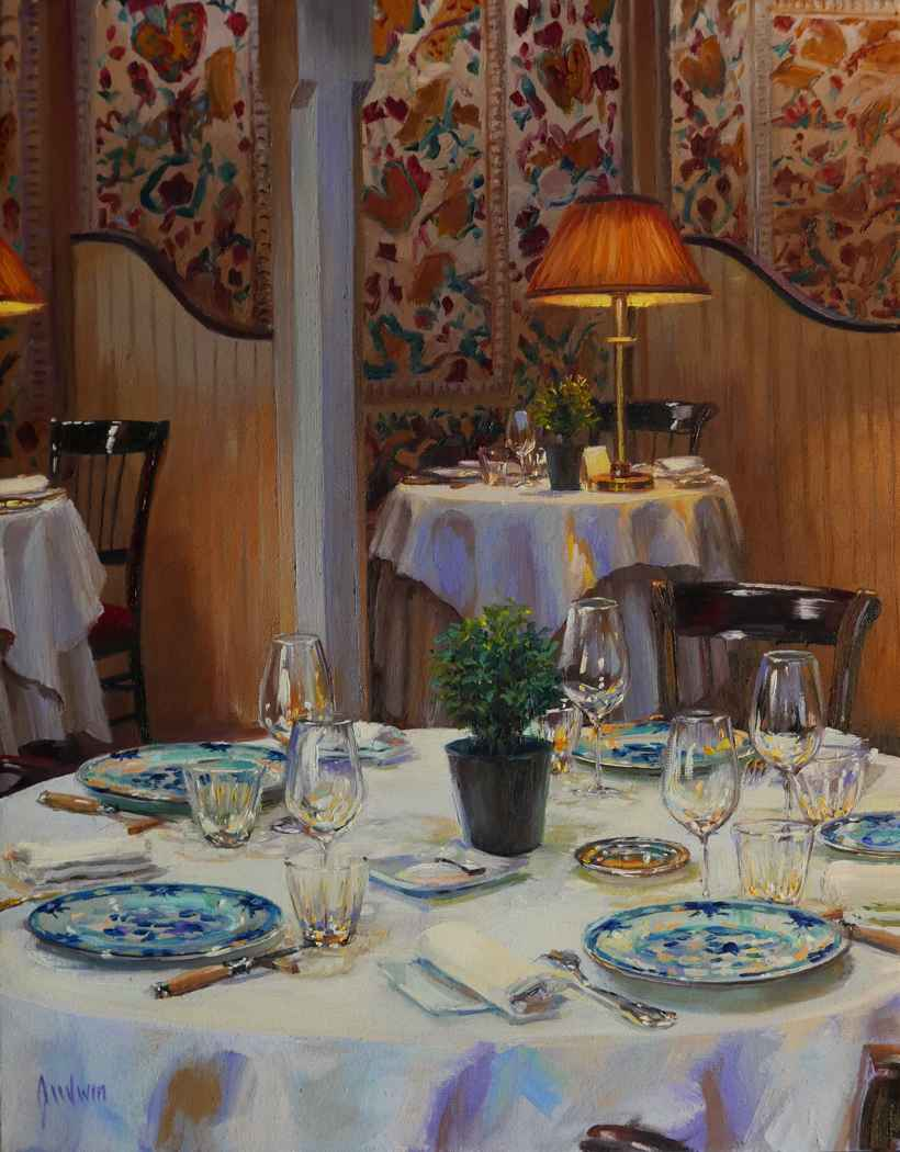 Lamplight at Le Vieux... by  Lindsay Goodwin - Masterpiece Online