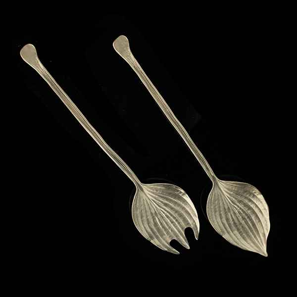 Hosta Serving Set, Pewter