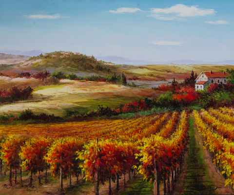 Village on the Hill by  Soon Ju Choi  - Masterpiece Online