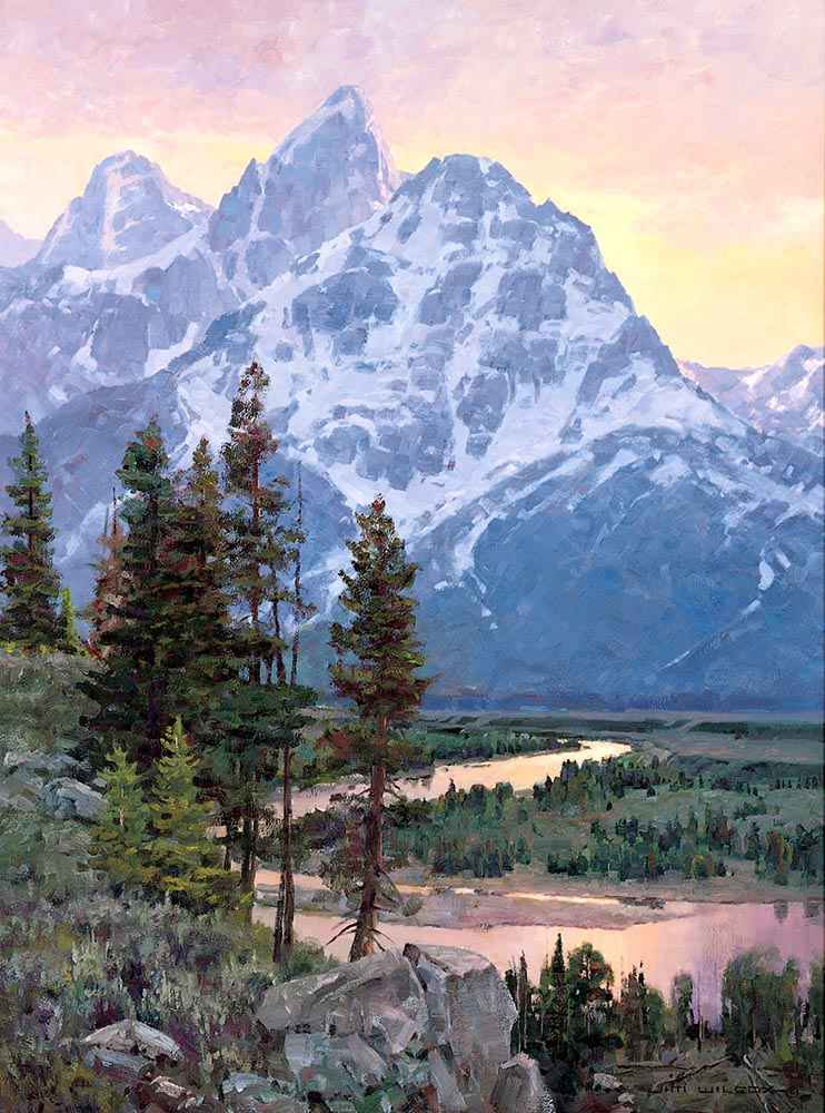Sunset Reflections by  Jim Wilcox - Masterpiece Online