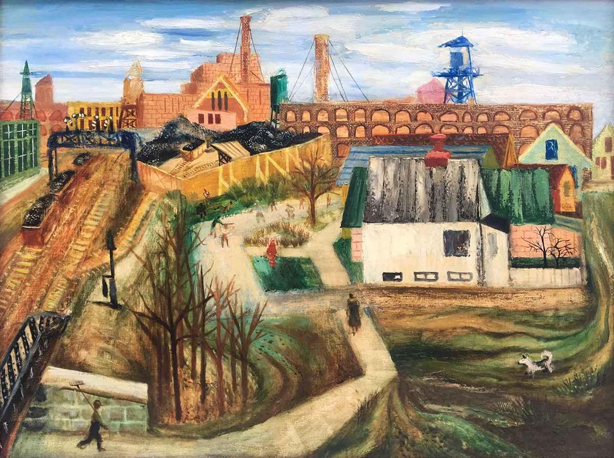 Chicago Factory Scene by Mr. Aaron Bohrod - Masterpiece Online
