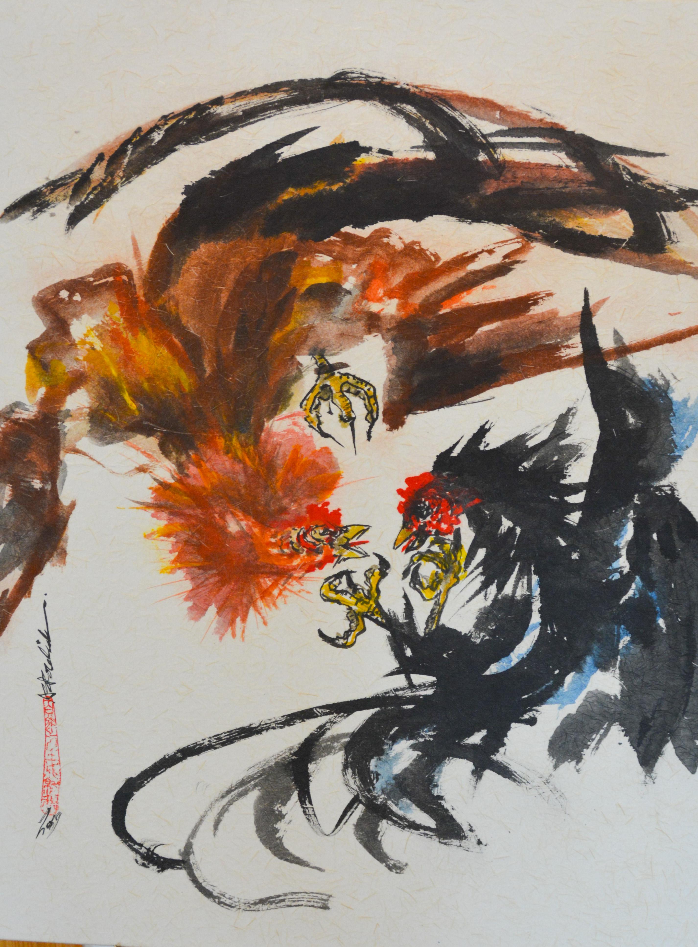 Palea de Gallos by  Ann Kozeliski - Masterpiece Online