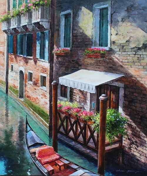Canal Stop, Venice by  Soon Ju Choi  - Masterpiece Online