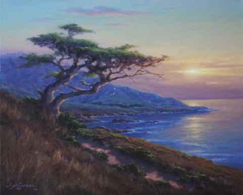 Cypress Pathway by  Sally  Jordan - Masterpiece Online