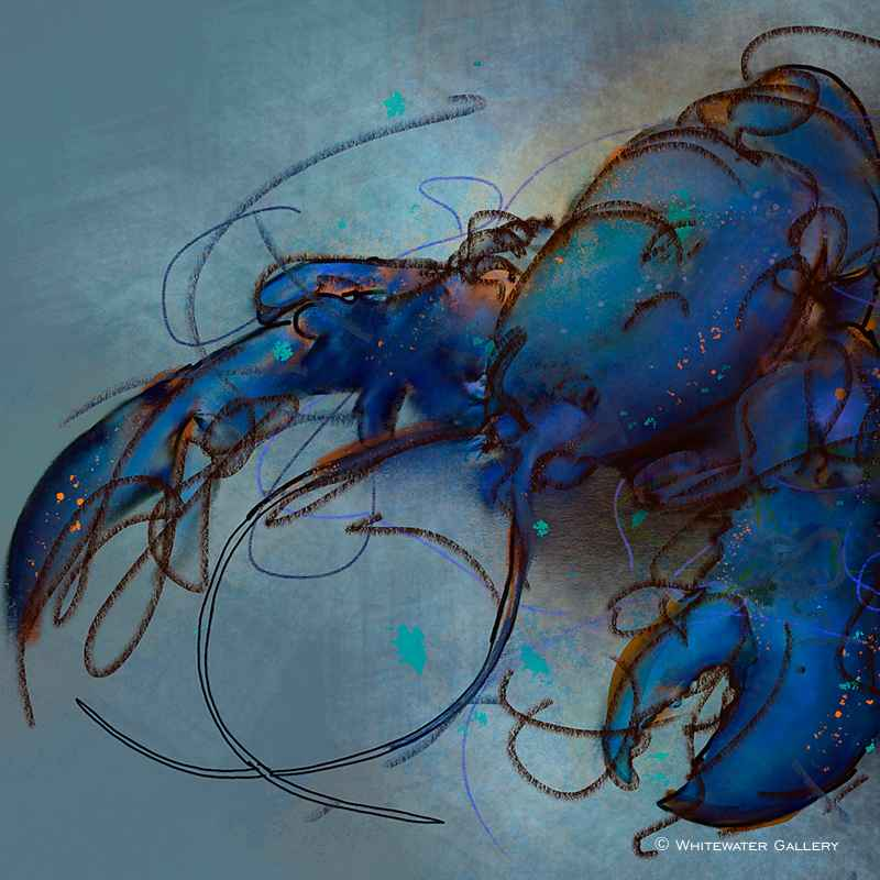 Blue Lobster Coaster by   Placemats & Coasters - Masterpiece Online