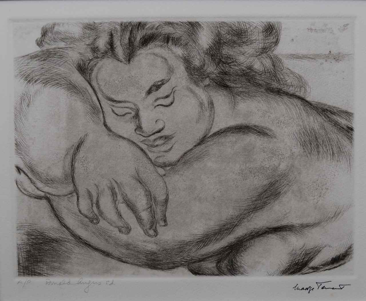 Sleeping Woman by  Madge Tennent (1889-1972) - Masterpiece Online