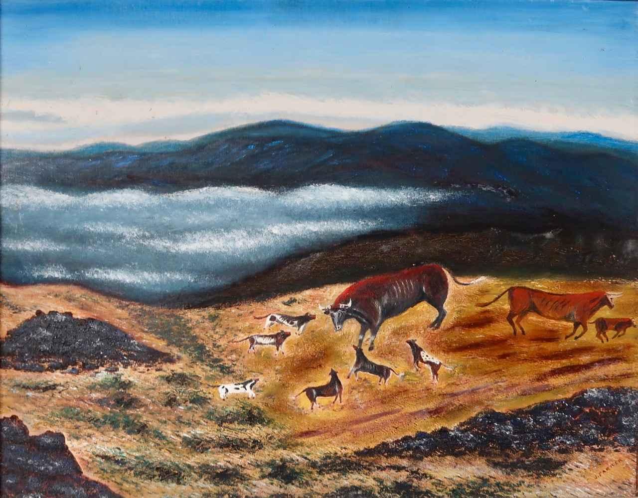 Wild Dogs on Parker R... by  James K. Parker (1880-1963) - Masterpiece Online
