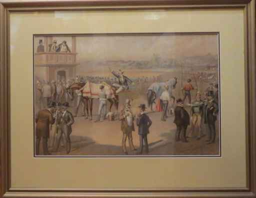 At the Race 1 by   Currier & Ives - Masterpiece Online