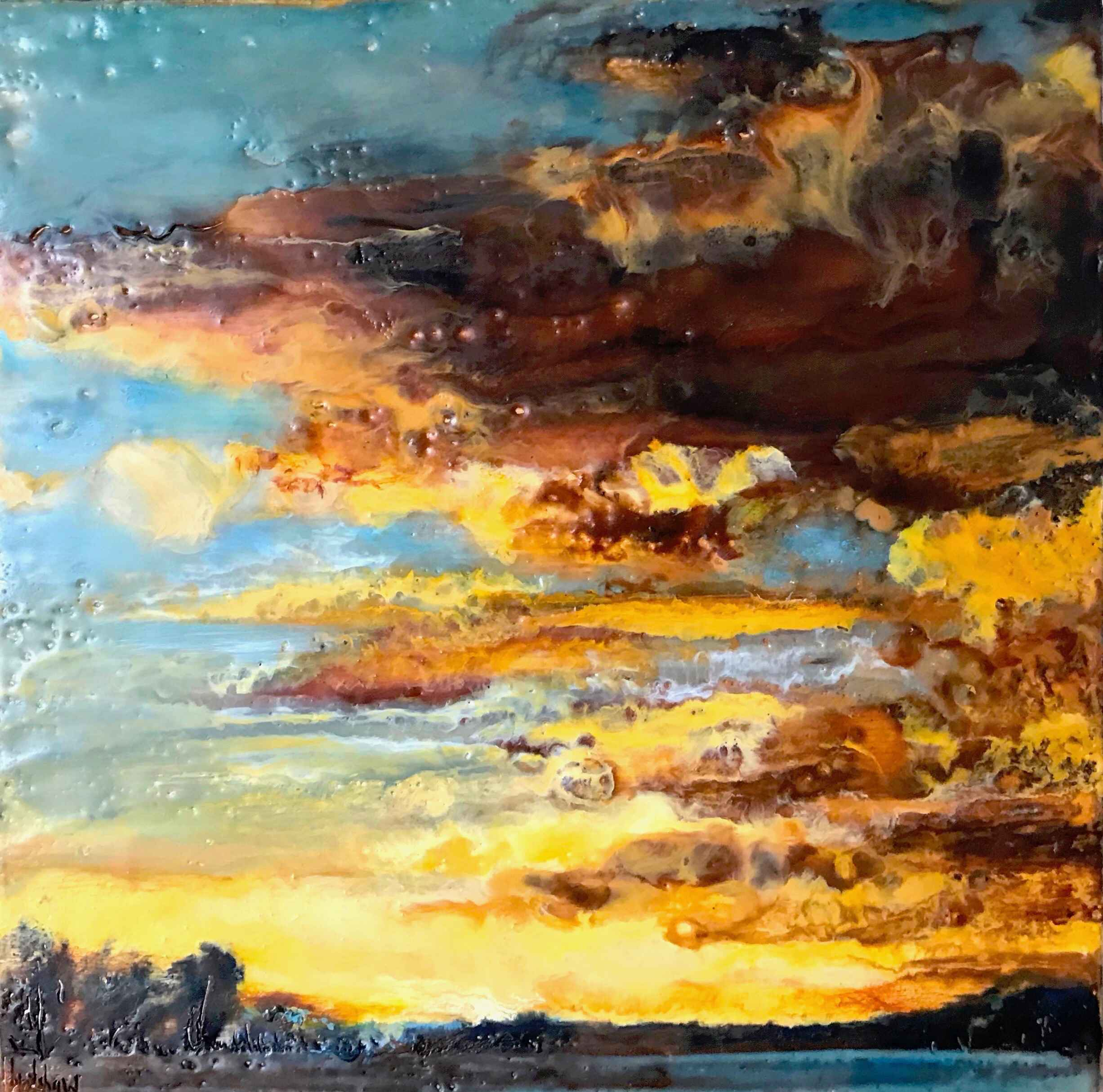 Once Upon a Gilded Sky by  Kathy Bradshaw - Masterpiece Online