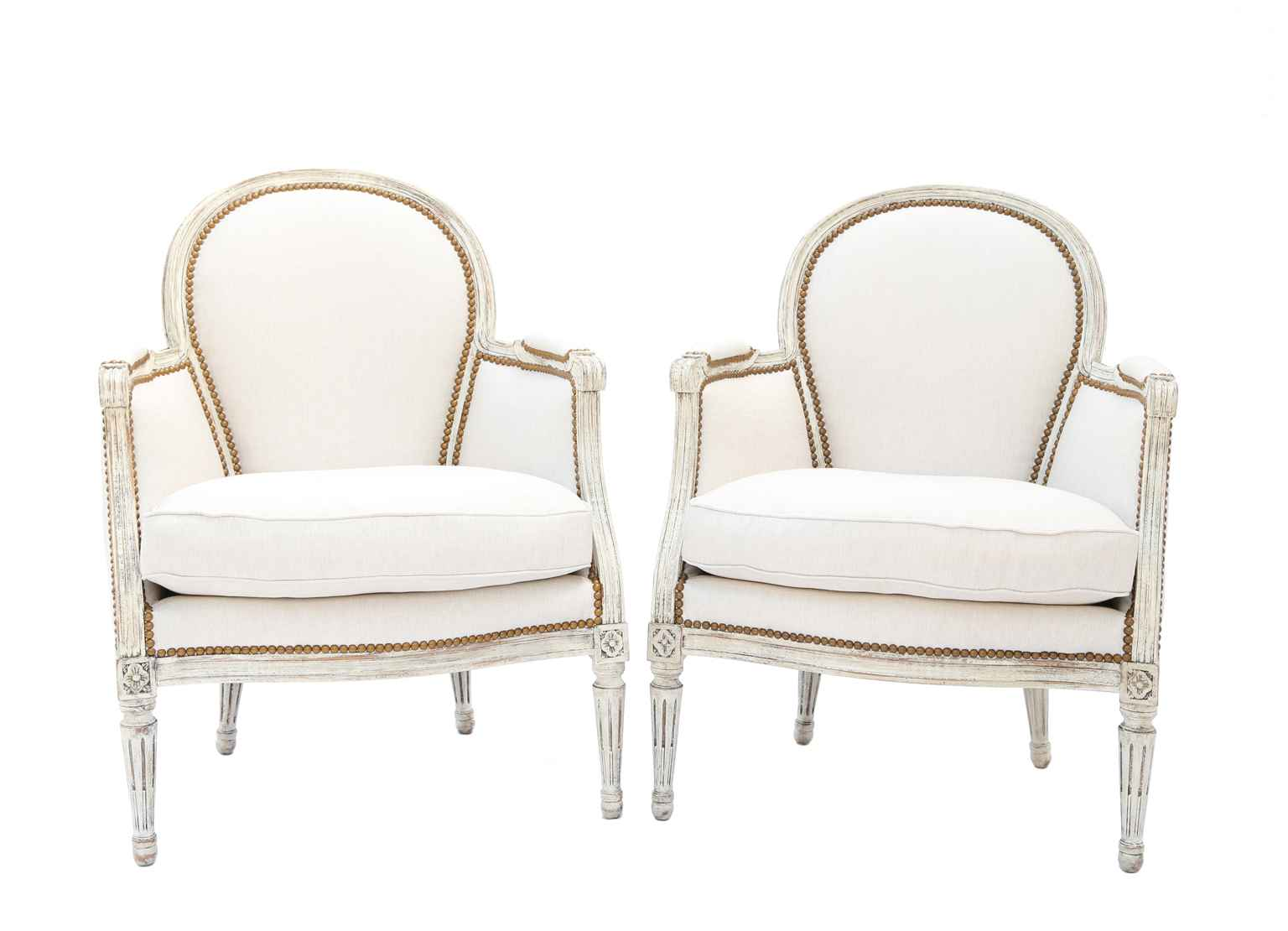 Pair of Painted Berge... by  French  - Masterpiece Online