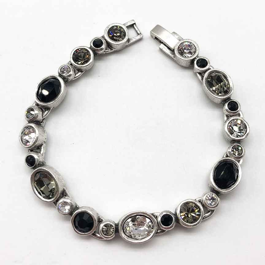 Bliss Bracelet in Silver, Black & White 7 1/4