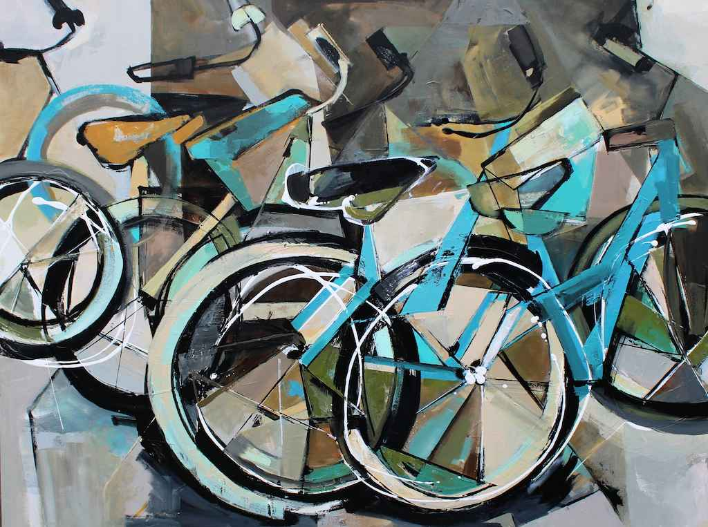 Row of Bikes by  Katie Leahul - Masterpiece Online