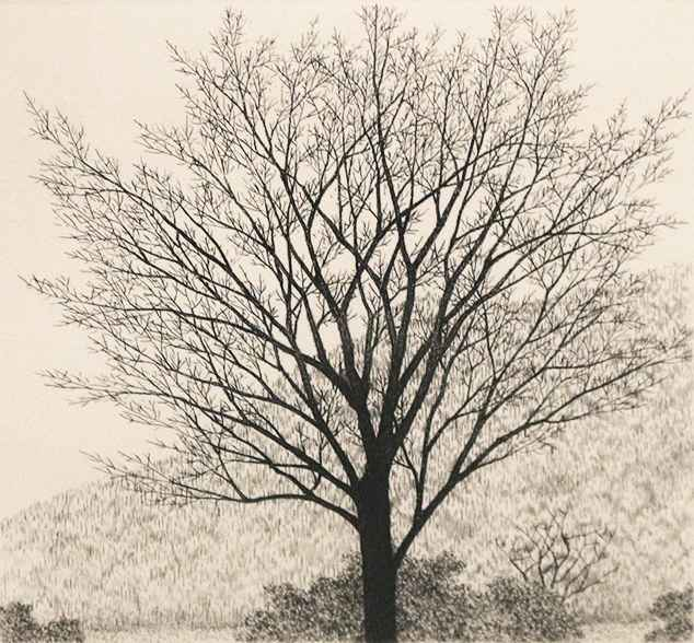 The Tree in Late Autu... by  Ryohei Tanaka - Masterpiece Online