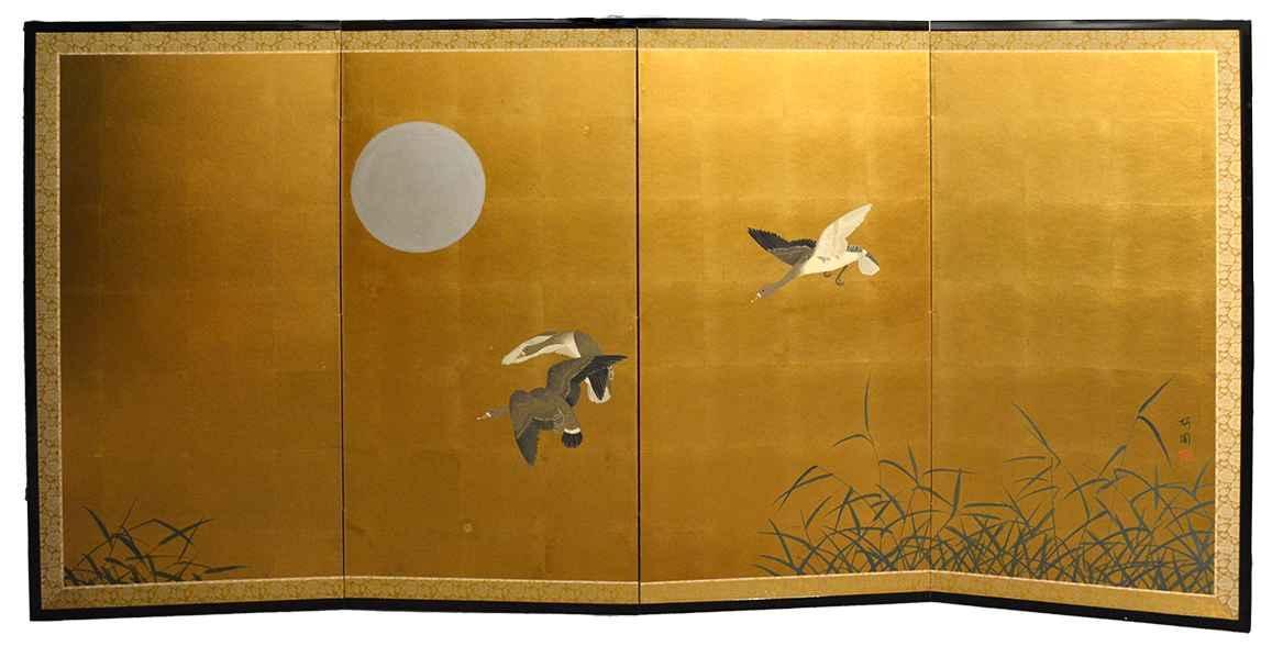 Wild Geese by  Oh-en Tanaka - Masterpiece Online