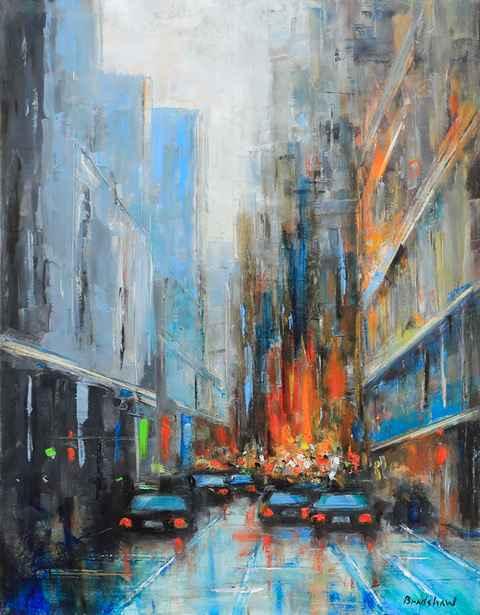 In the City by  Bob Bradshaw - Masterpiece Online