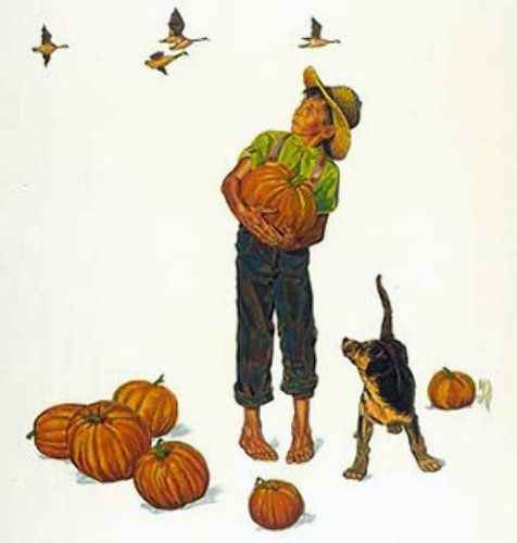 Autumn Harvest by  Norman Rockwell - Masterpiece Online