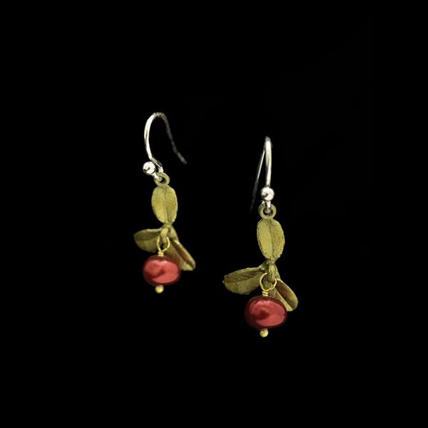 Cranberry Wire Drop Earrings