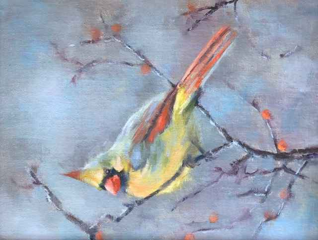 Cardinal by  Sharon McCann Daly - Masterpiece Online