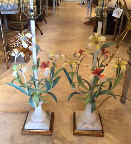 Pair of Iron Floral L... by  Italian  - Masterpiece Online